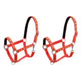 vidaXL Head Collars 2 pcs for Horse Nylon Size Full Red