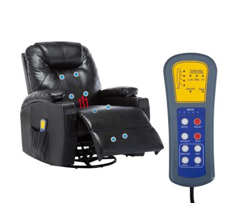 vidaXL Elektrischer Massagesessel Schaukelsessel Kunstleder Schwarz[12/14]