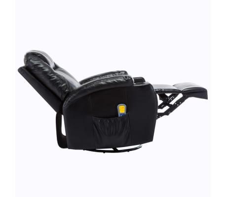 vidaXL Elektrischer Massagesessel Schaukelsessel Kunstleder Schwarz[6/14]