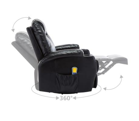 vidaXL Fauteuil électrique à bascule de massage Similicuir Noir[7/15]