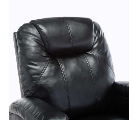 vidaXL Fauteuil électrique à bascule de massage Similicuir Noir[8/15]
