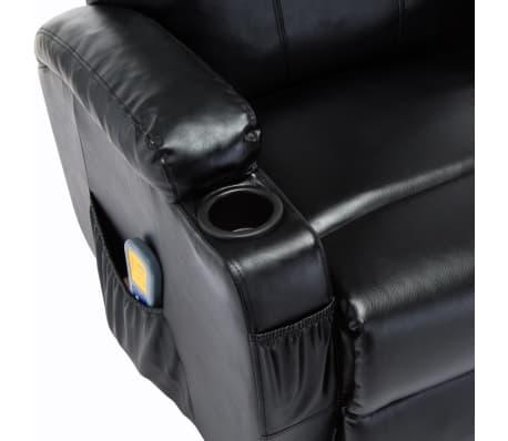 vidaXL Fauteuil électrique à bascule de massage Similicuir Noir[9/15]