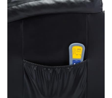 vidaXL Fauteuil électrique à bascule de massage Similicuir Noir[11/15]