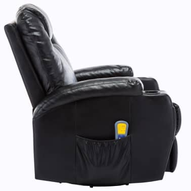 vidaXL Elektrischer Massagesessel Schaukelsessel Kunstleder Schwarz[3/14]
