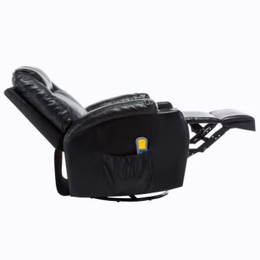 vidaXL Fauteuil électrique à bascule de massage Similicuir Noir[6/15]