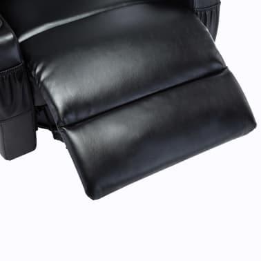 vidaXL Fauteuil électrique à bascule de massage Similicuir Noir[10/15]