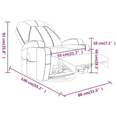 vidaXL Fauteuil électrique à bascule de massage Similicuir Crème[15/15]