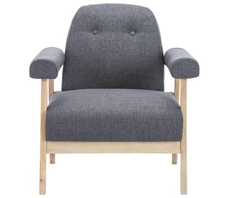 vidaXL Sillón de tela gris oscuro[3/8]