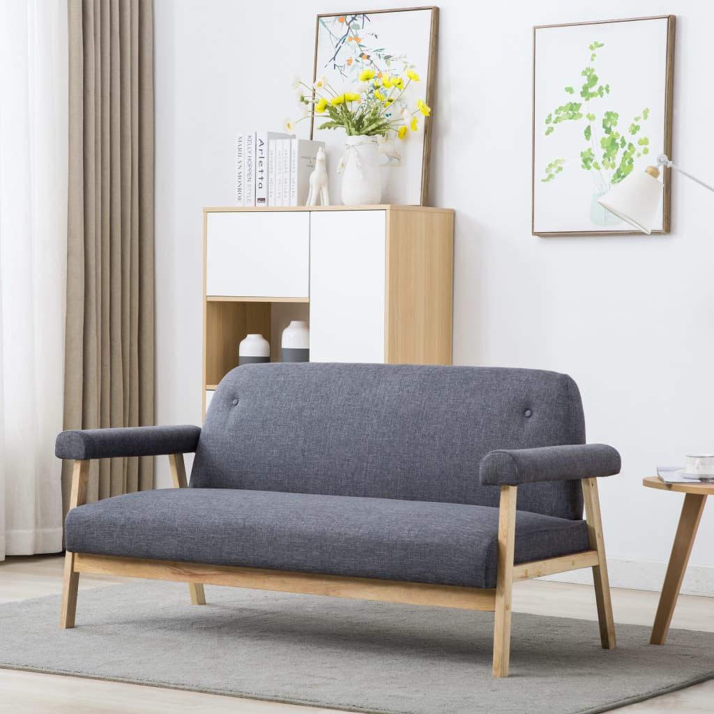 vidaXL 3-personers sofa i stof mørkegrå