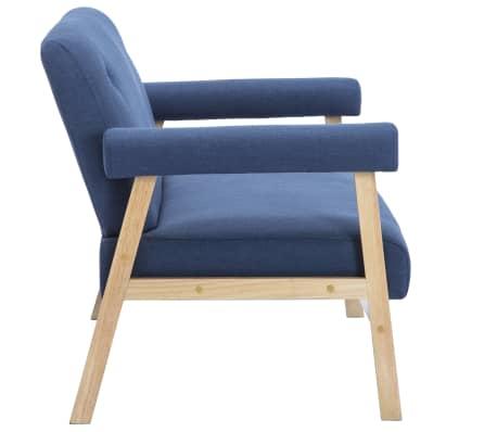 vidaXL Dvivietė sofa, audinys, mėlyna[4/8]