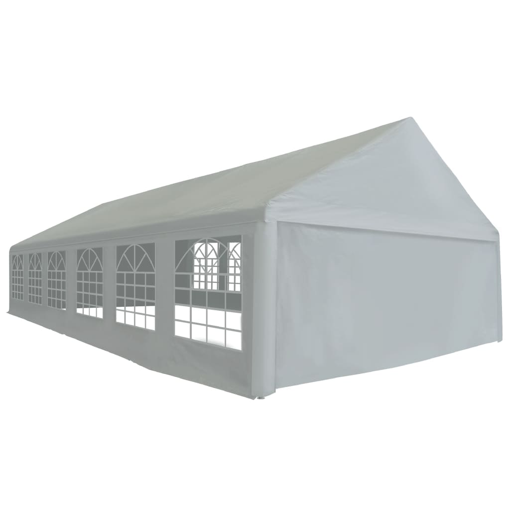 vidaXL Namiot imprezowy z PE, 6 x 12 m, szary