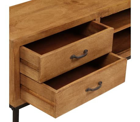 "vidaXL TV Cabinet Solid Mango Wood 55.1""x11.8""x15.7""[12/17]"