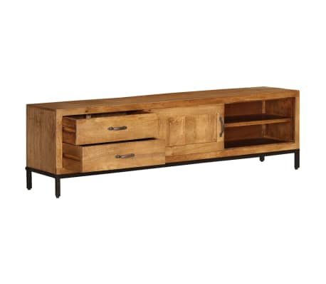 "vidaXL TV Cabinet Solid Mango Wood 55.1""x11.8""x15.7""[6/17]"