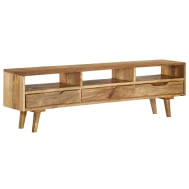 "vidaXL TV Cabinet Solid Mango Wood 55.1""x11.8""x16.1""[1/13]"