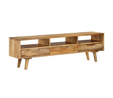 "vidaXL TV Cabinet Solid Mango Wood 55.1""x11.8""x16.1""[12/13]"