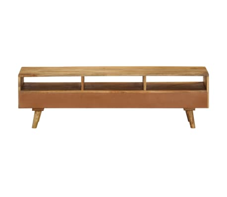 "vidaXL TV Cabinet Solid Mango Wood 55.1""x11.8""x16.1""[4/13]"