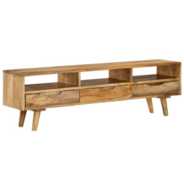 "vidaXL TV Cabinet Solid Mango Wood 55.1""x11.8""x16.1""[13/13]"