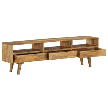"vidaXL TV Cabinet Solid Mango Wood 55.1""x11.8""x16.1""[5/13]"