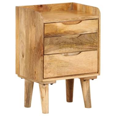 "vidaXL Bedside Cabinet Solid Mango Wood 15.7""x11.8""x23.4""[1/16]"