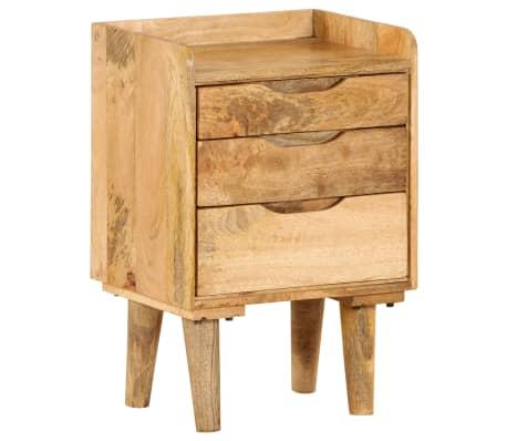 "vidaXL Bedside Cabinet Solid Mango Wood 15.7""x11.8""x23.4""[16/16]"
