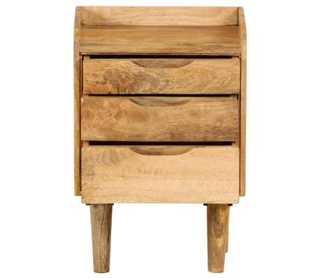"vidaXL Bedside Cabinet Solid Mango Wood 15.7""x11.8""x23.4""[3/16]"