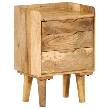 "vidaXL Bedside Cabinet Solid Mango Wood 15.7""x11.8""x23.4""[14/16]"
