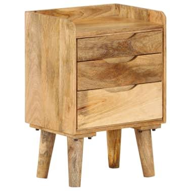 "vidaXL Bedside Cabinet Solid Mango Wood 15.7""x11.8""x23.4""[15/16]"