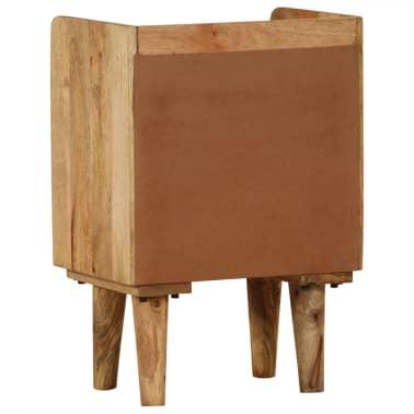 "vidaXL Bedside Cabinet Solid Mango Wood 15.7""x11.8""x23.4""[4/16]"