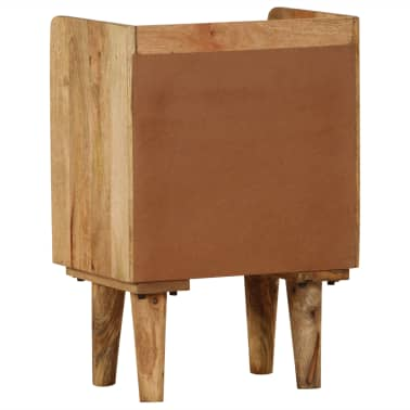 "vidaXL Bedside Cabinet Solid Mango Wood 15.7""x11.8""x23.4""[5/16]"