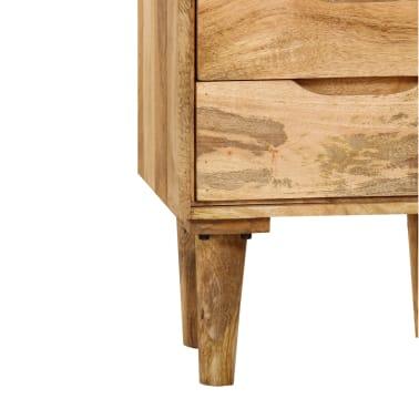 "vidaXL Bedside Cabinet Solid Mango Wood 15.7""x11.8""x23.4""[6/16]"