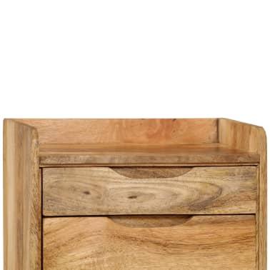 "vidaXL Bedside Cabinet Solid Mango Wood 15.7""x11.8""x23.4""[7/16]"
