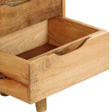 "vidaXL Bedside Cabinet Solid Mango Wood 15.7""x11.8""x23.4""[10/16]"