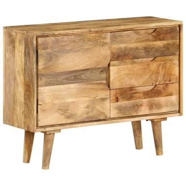 """vidaXL Sideboard Solid Mango Wood 35.4""""x15.7""""x27.2""""[1/19]"""