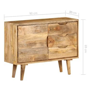 """vidaXL Sideboard Solid Mango Wood 35.4""""x15.7""""x27.2""""[14/19]"""