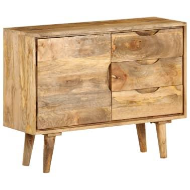 """vidaXL Sideboard Solid Mango Wood 35.4""""x15.7""""x27.2""""[15/19]"""