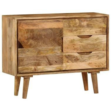 """vidaXL Sideboard Solid Mango Wood 35.4""""x15.7""""x27.2""""[3/19]"""