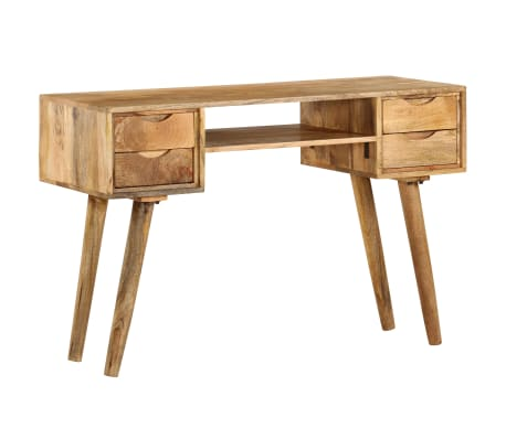 vidaXL Schreibtisch Massivholz Mango 115×47×76 cm