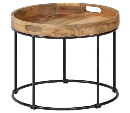 vidaXL Kavos staliukas, 50x40cm, mango medienos masyvas ir plienas[1/12]