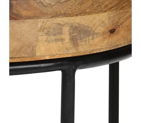 vidaXL Kavos staliukas, 50x40cm, mango medienos masyvas ir plienas[5/12]