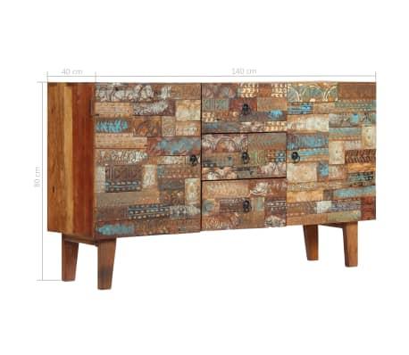 vidaXL Příborník 140 x 40 x 80 cm masivní recyklované dřevo[8/13]