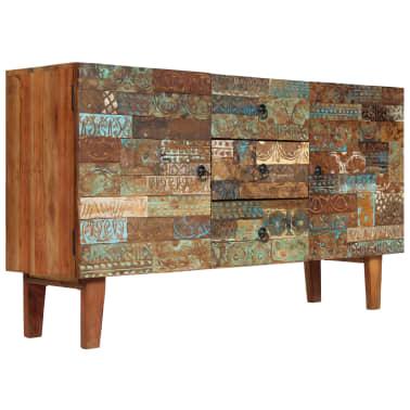 vidaXL Příborník 140 x 40 x 80 cm masivní recyklované dřevo[9/13]