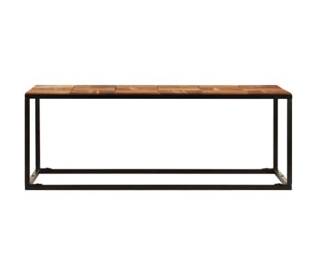 vidaXL Stolik kawowy z drewna akacjowego i stali, 110x40x60 cm[3/11]