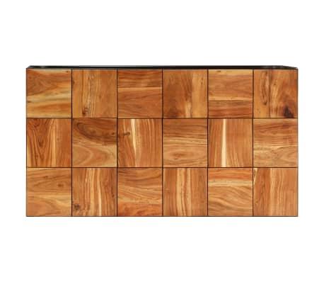 vidaXL Stolik kawowy z drewna akacjowego i stali, 110x40x60 cm[4/11]