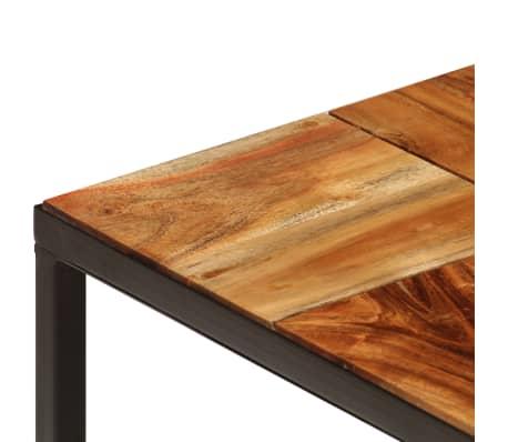 vidaXL Stolik kawowy z drewna akacjowego i stali, 110x40x60 cm[5/11]