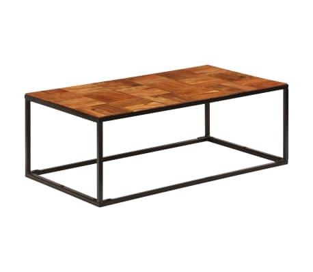 vidaXL Stolik kawowy z drewna akacjowego i stali, 110x40x60 cm[8/11]
