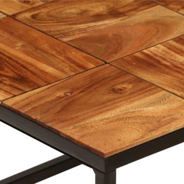 vidaXL Stolik kawowy z drewna akacjowego i stali, 110x40x60 cm[6/11]