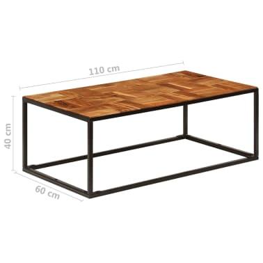 vidaXL Stolik kawowy z drewna akacjowego i stali, 110x40x60 cm[7/11]