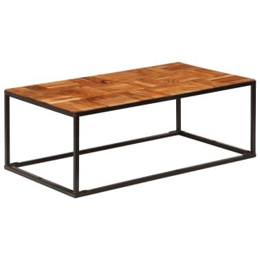 vidaXL Stolik kawowy z drewna akacjowego i stali, 110x40x60 cm[9/11]