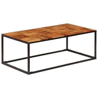 vidaXL Stolik kawowy z drewna akacjowego i stali, 110x40x60 cm[10/11]