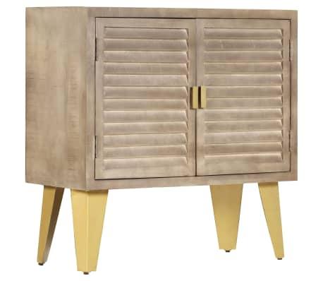 vidaXL Sideboard 80x35x80 cm Solid Mango Wood and Cast Iron